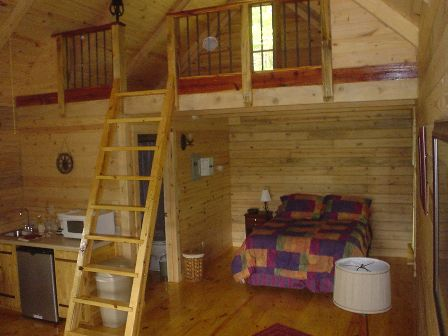 Interior of Log Cabin