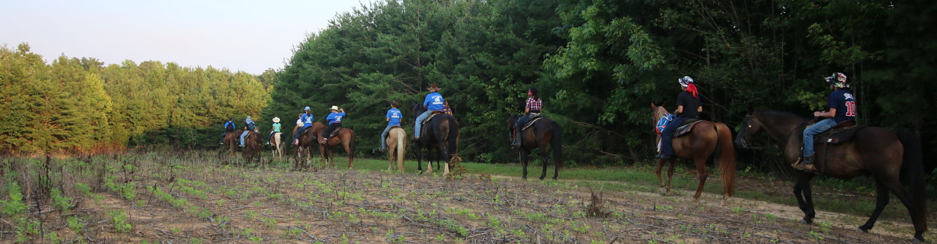 Group trail ride at Shangrila Guest Ranch