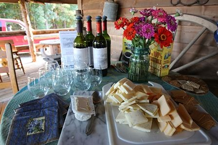 Wine and Cheese for Cowgirl Retreat at Shangrila Guest Ranch